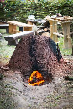 Old slavic furnace