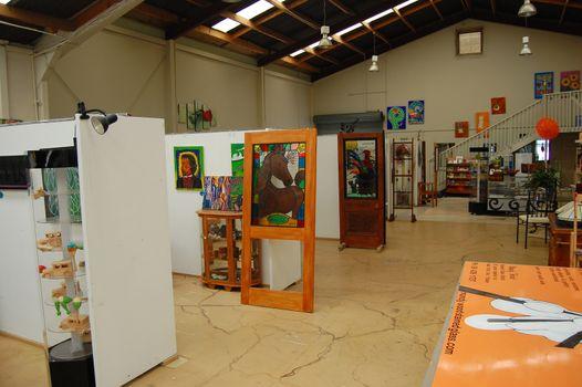 Art gallery interior at Dargaville town
