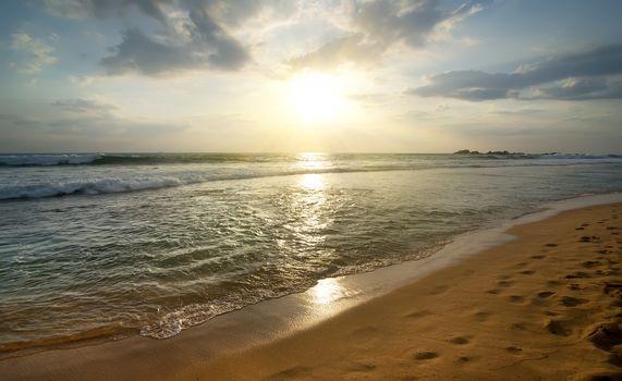 Ocean in evening