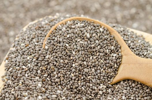 Nutritious chia seeds.