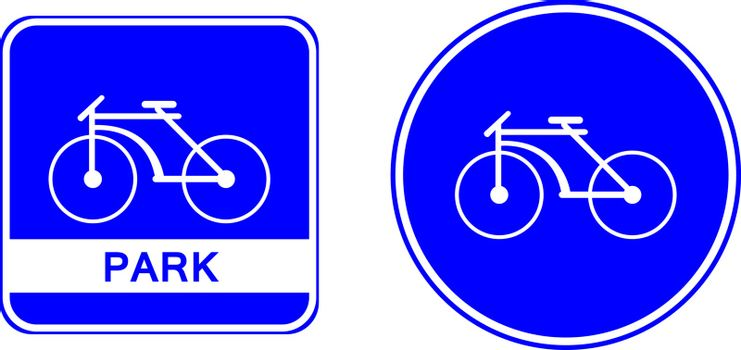 bicycle park symbol lable