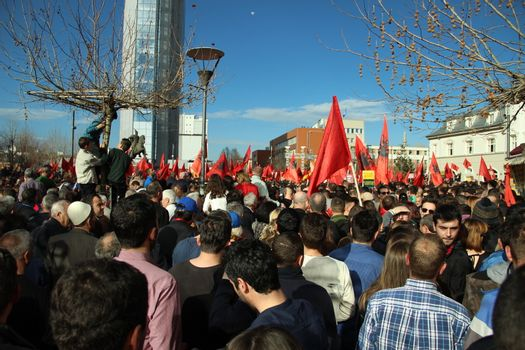 KOSOVO - POLITICS - PROTEST - ANNIVERSARY - SERBIA