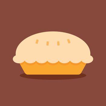 pie vector icon flat design
