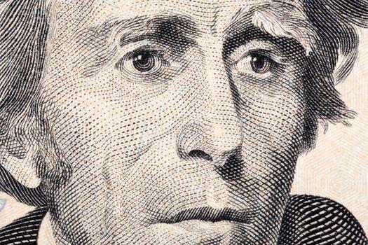 Andrew Jackson a close-up portrait