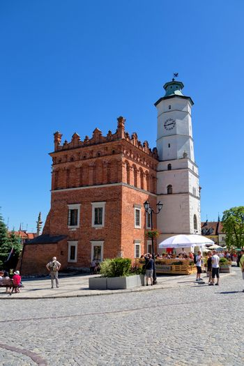 City Hall in the Old Town in Sandomierz in Poland