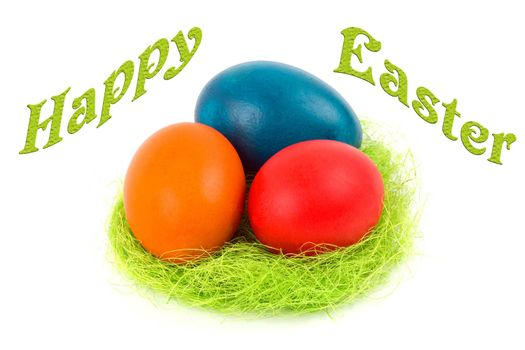Happy Easter - Easter eggs in the nest
