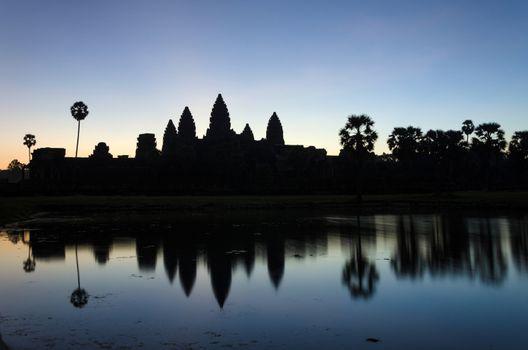 Angkor Wat temple at sunrise in Siem Reap