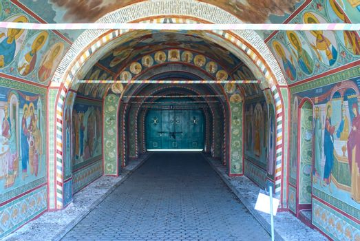 Entrance to orthodox monastery