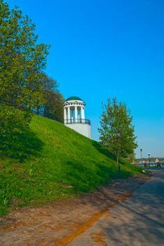 Famous gazebo on the embankment of Volga river