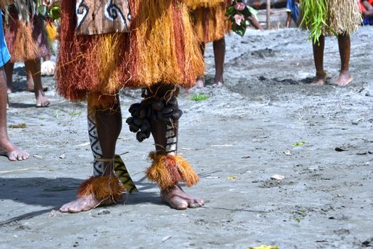 Traditional tribal dance at mask festival