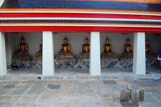 Buddha statues at Wat Pho Bangkok