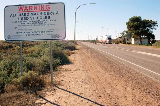 Warning information sign at Western Australia