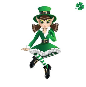 St. Patrick's Day. Leprechaun girl
