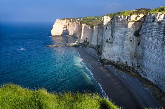 Etretat cliff France