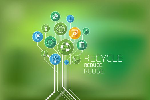 Ecology Infographic. Recycle, Reduce, Reuse