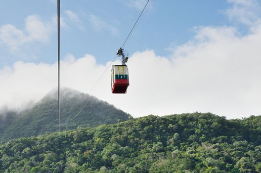 Cable car in mountains of Puerto Plata