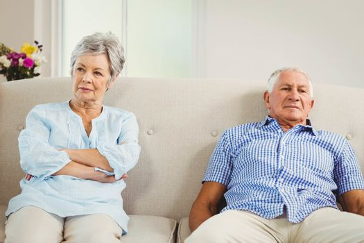 Senior couple upset with each other