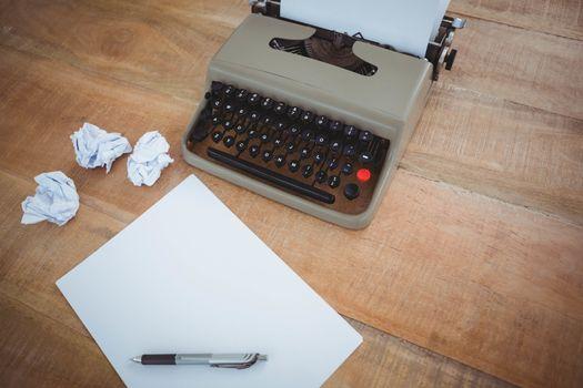 View of old typewriter