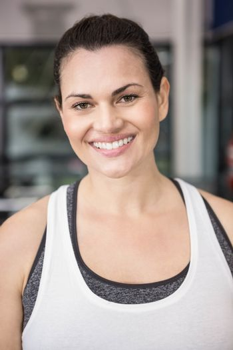 Woman smiling in sportswear
