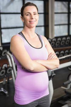 Woman posing in sportswear
