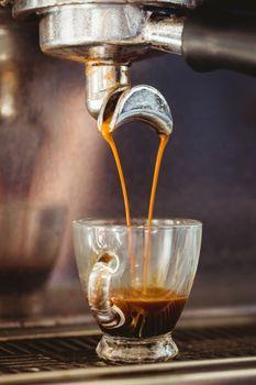 Close up of a coffee machine
