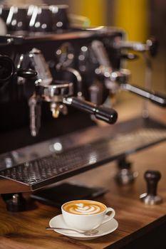 Coffee machine and cappuccino
