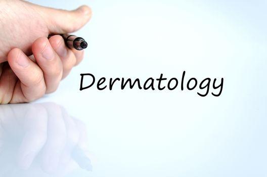 Dermatology text concept