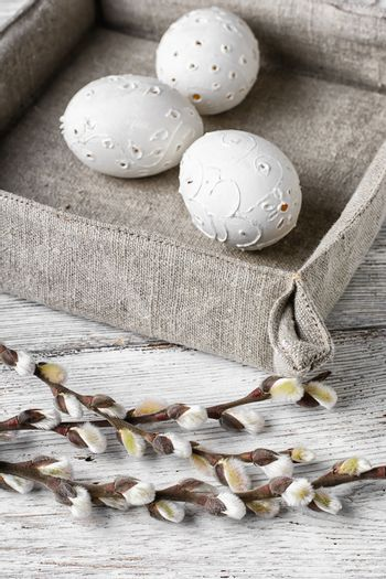 Easter eggs and willow
