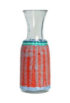 Unique glass vase, isolated