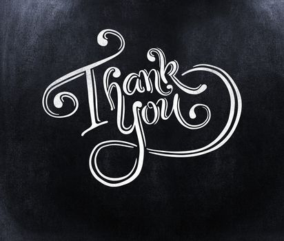 Thank you message against black background