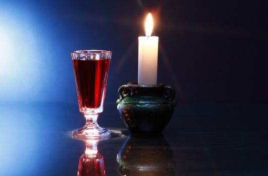 Liquor And Candle