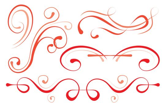 vector illustration. set of elements for design. decorative borders