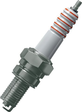 Spark plug for the engine of the car vector, mesh gradient