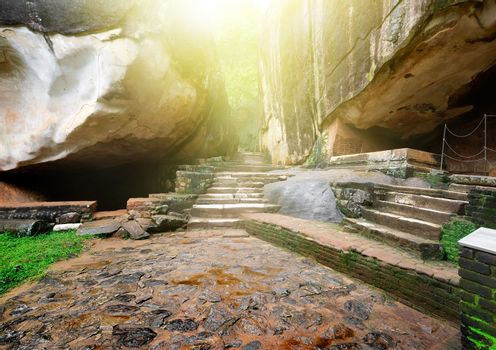 Stairs and rocks