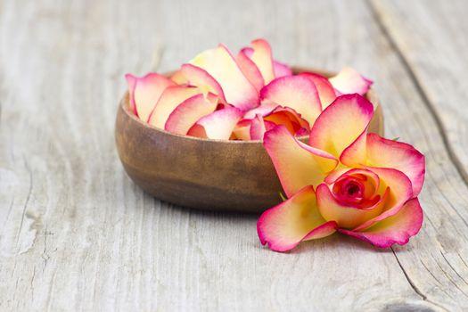 bowl full of rose petals
