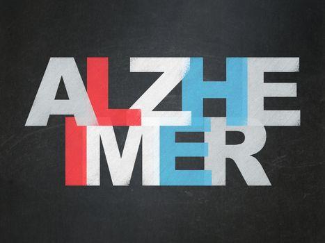 Medicine concept: Alzheimer on School Board background