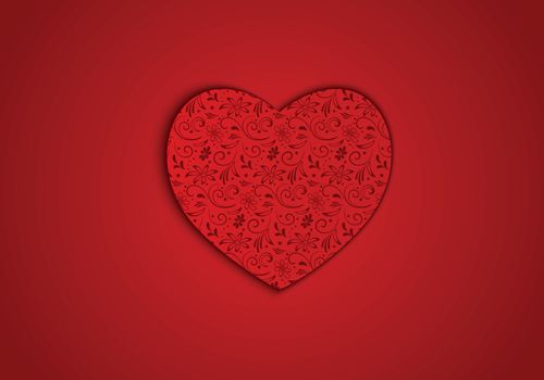 Vector background red heart