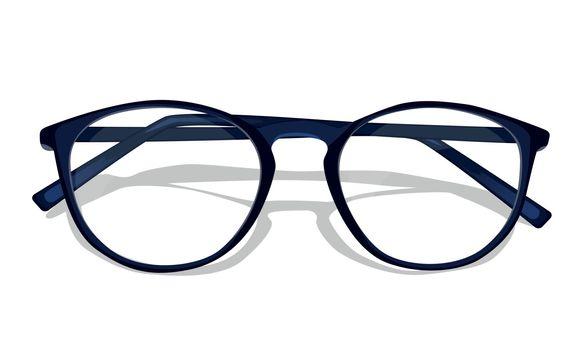 Vector dark blue glasses