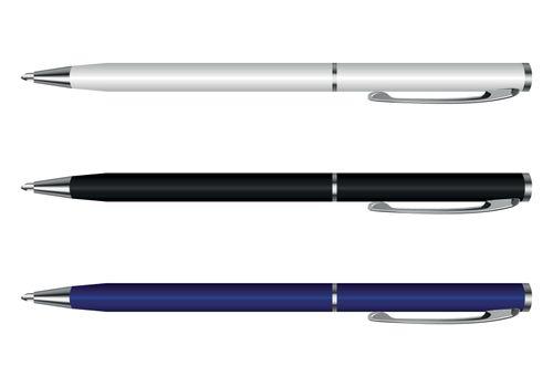 pen vector white blue black
