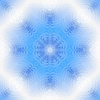 Blue and white background with abstract concentric pattern