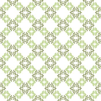 Vector seamless background. White wallpaper with green diagonal pattern