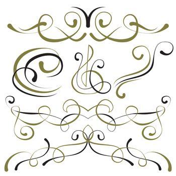 vector set of elements for design. decorative borders