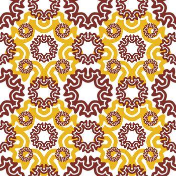 seamless wallpaper. Motley retro repeating pattern. The yellow b