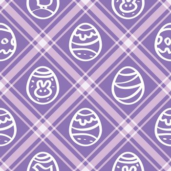 Seamless wallpaper. lilac print repetitive Easter eggs