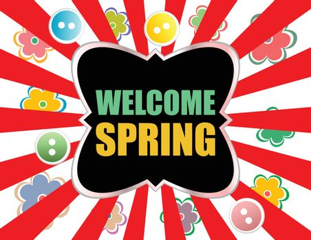 Welcome Spring Holiday Card. Welcome Spring Vector. Welcome Spring background. Spring Holiday Graphic. Welcome Spring Art. Spring Holiday Drawing