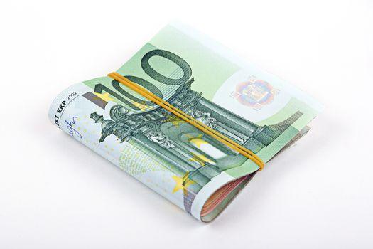 Bundle of European currency
