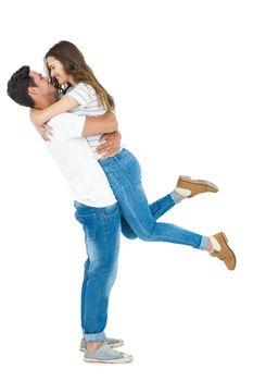 Boyfriend carrying his girlfriend