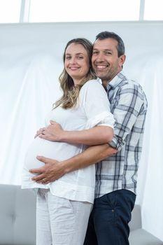Happy couple expecting baby