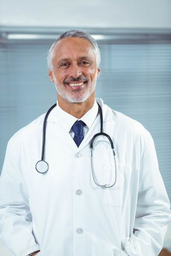 Doctor at his desk in clinic
