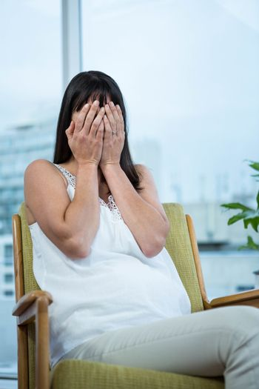 Pregnant woman feeling nausea